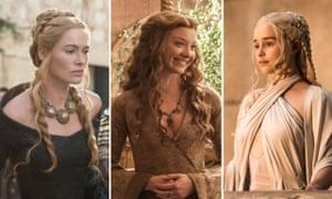 We three queens … Game of Thrones stars Lena Headey, Natalie Dormer and Emilia Clarke.