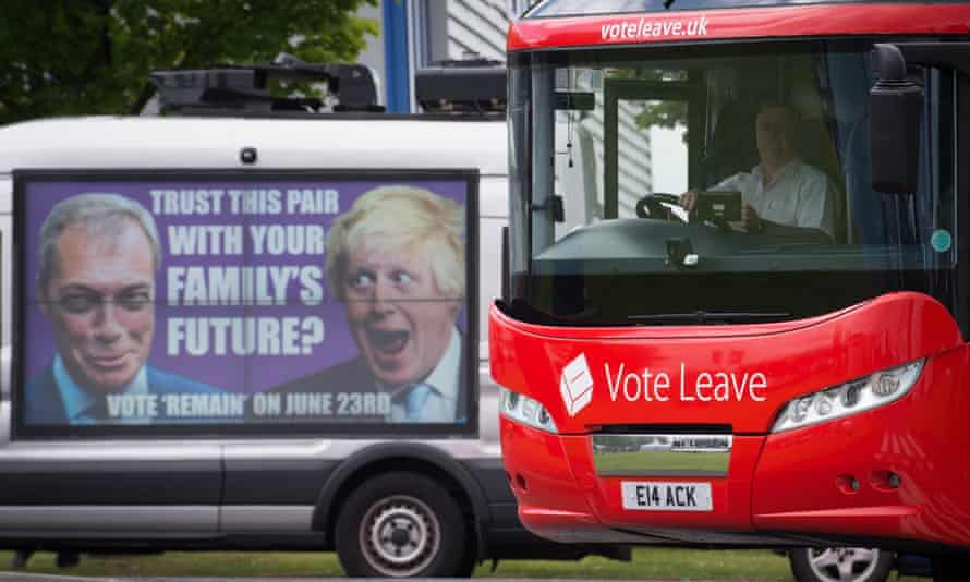 Vote Leave and Vote Remain campaign buses