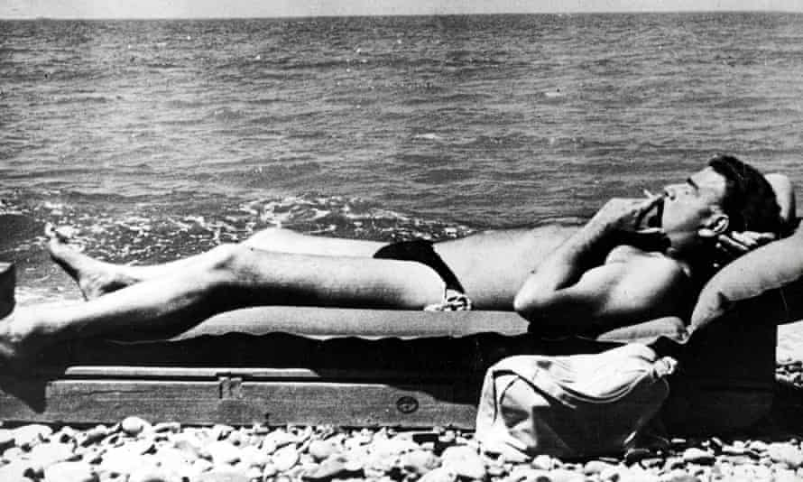 Making waves … Guy Burgess relaxes on a Black Sea beach. Photograph: Popperfoto/Getty Images