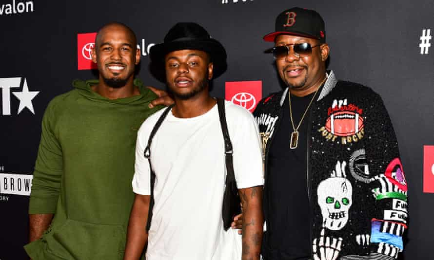 Landon Brown, Bobby Brown Jr and Bobby Brown in Hollywood, California in 2018.