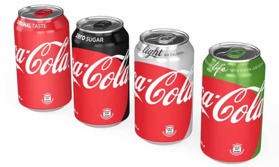 Coca-Cola's new-look range of cans