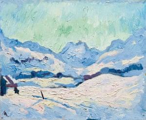 Winter wonder: Giovanni Giacometti's Winterlandschaft.