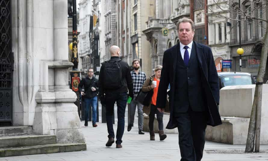 Peter Wilding outside the Royal Courts of Justice.