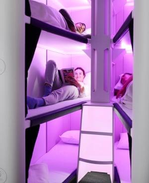 The new Air NZ 'Skynest' sleep pods.