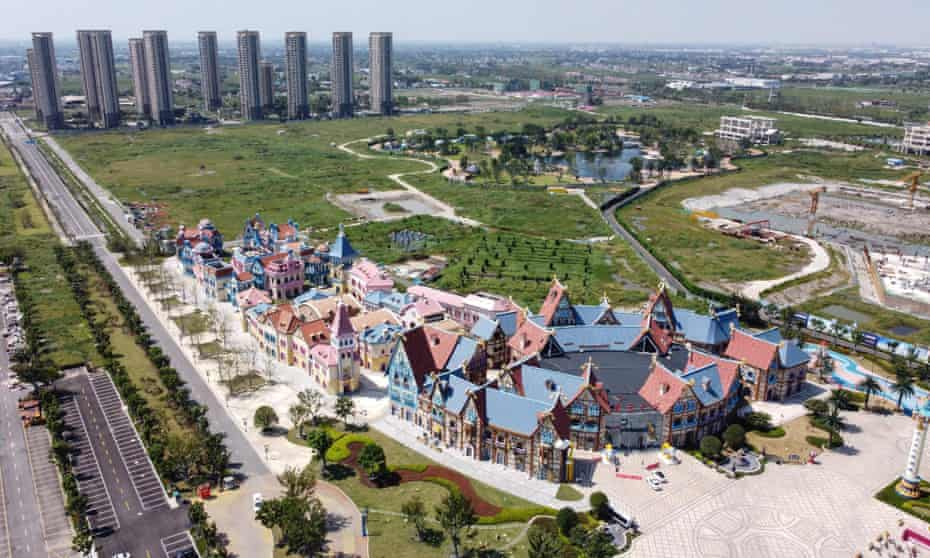 An unfinished Evergrande 'cultural tourism city' in  China's eastern Jiangsu province.