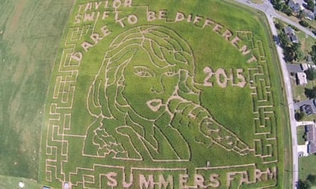 Taylor Swift made from corn maze at Summers farm in Maryland.