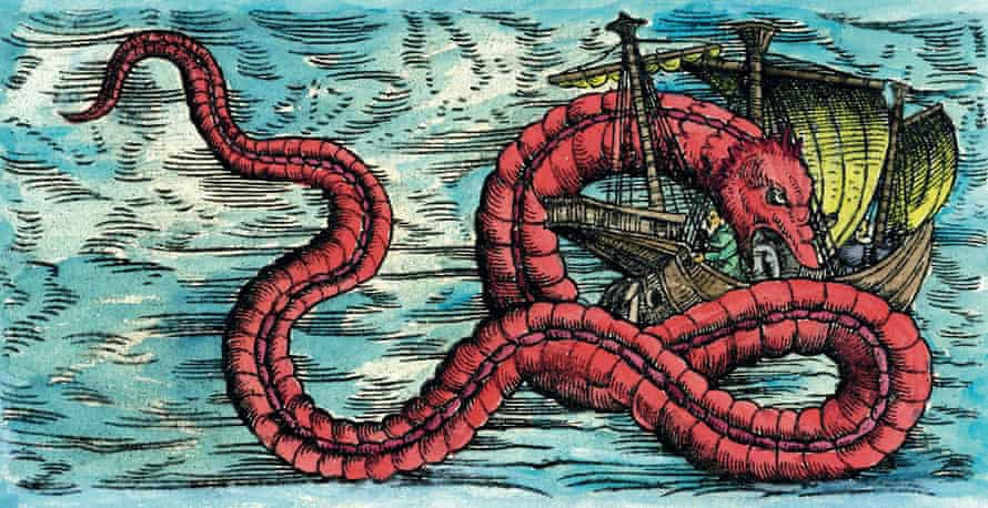 A 1551 engraving of a sea monster