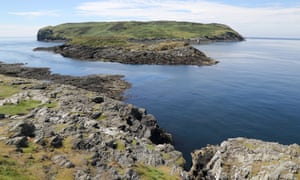 The Calf of Man, a small island on the Isle of Man's south west coast, where seals sunbathe on the rocks and basking sharks swim.