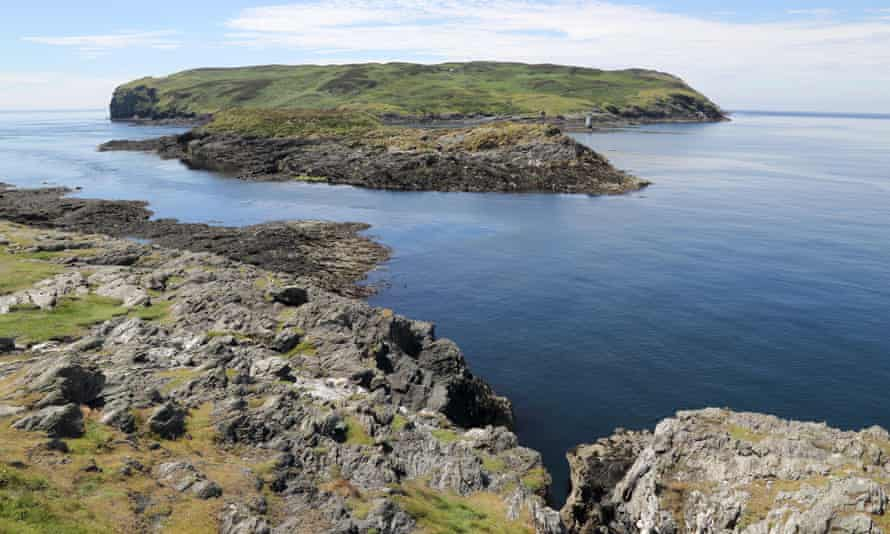 The Calf of Man, a small island on the Isle of Man's south west coast, where seals sunbathe on the rocks and basking sharks swim.