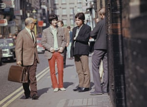 Sign of the times … two men wearing mod fashions in London in around 1967.