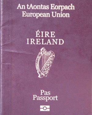 An Irish passport