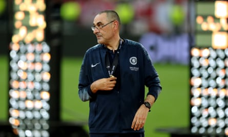Maurizio Sarri after winning the Europa League final against Arsenal in Baku.