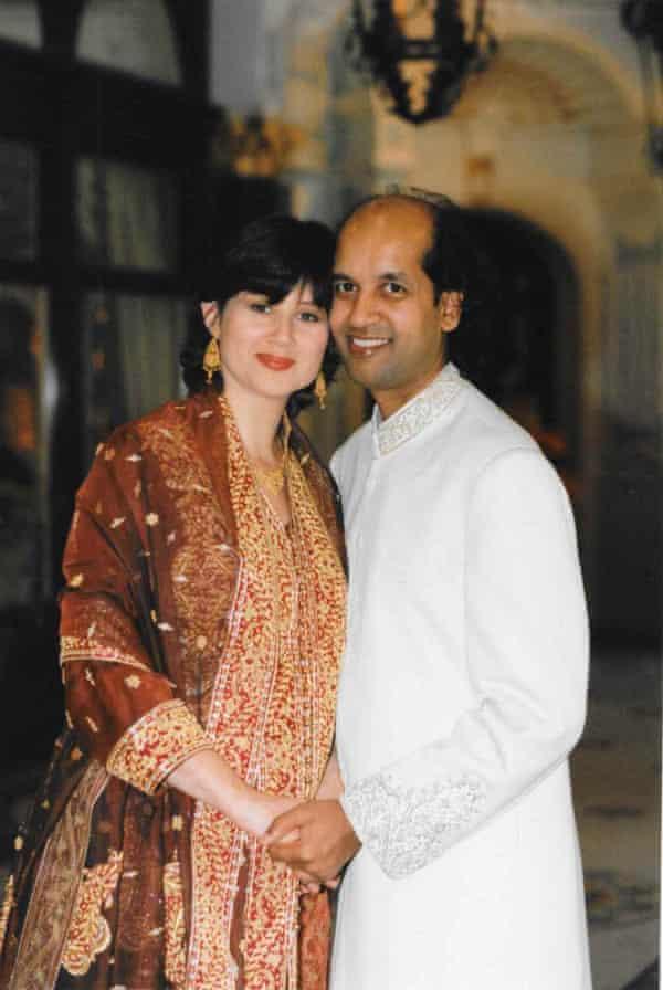 Arif and Kathryn on their wedding day, London, 1996.