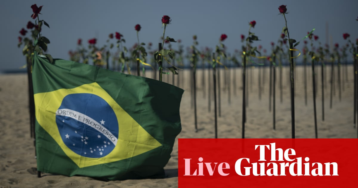 Coronavirus live news: Brazil in record daily cases; rare side-effect for Pfizer and Moderna vaccines