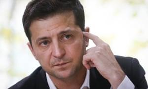 Ukraine's president, Volodymyr Zelenskiy.