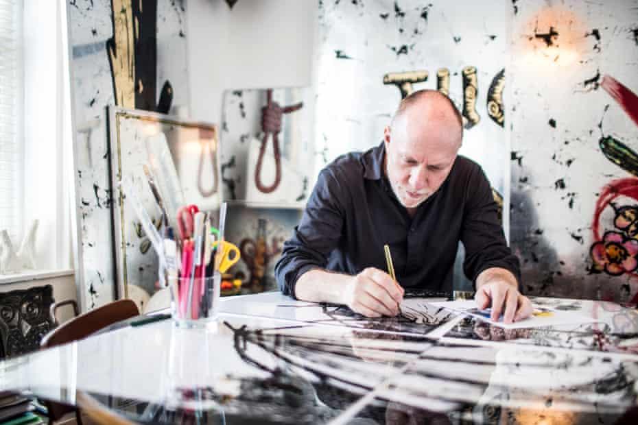 Daniel Baker, a Kent-born Romani Gypsy, studied Roma aesthetics at the Royal College of Art.
