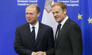Joseph Muscat and Donald Tusk