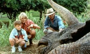 Penjaga klon ... Laura Dern dan Sam Neill di Jurassic Park.