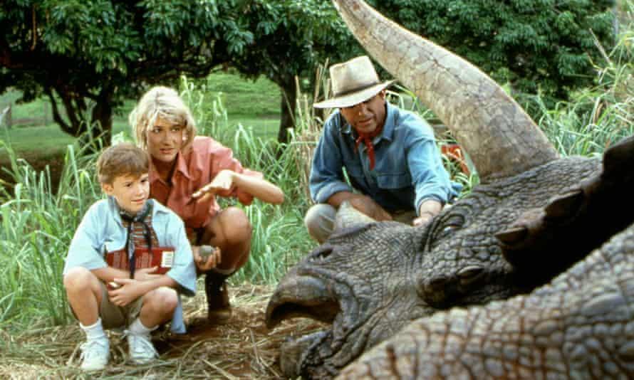 Clone rangers ... Laura Dern and Sam Neill in Jurassic Park.