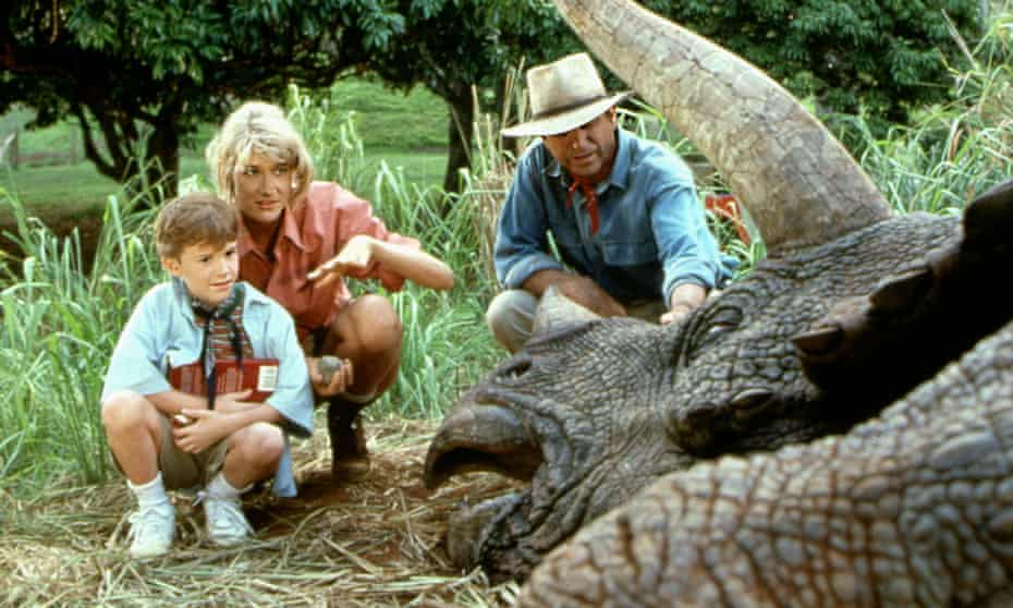 Beast masters … a scene with a (non-CGI) dino from Jurassic Park.