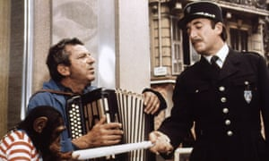 John Bluthal, left, wtih Peter Sellers in The Return of the Pink Panther, 1975.