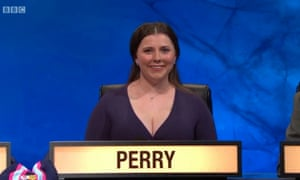 Katharine Perry, captain of the Pembroke, Oxford team on University Challenge.