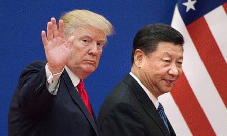 Donald Trump and China's President Xi Jinping.