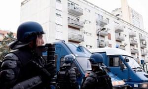 French gendarmes in the Breil neighbourhood in Nantes on Wednesday.