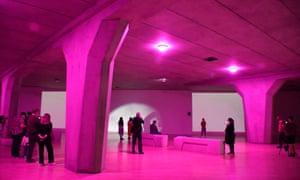 The London gallery removed internal walls to accommodate Mark Leckey's lifesize replica motorway bridge