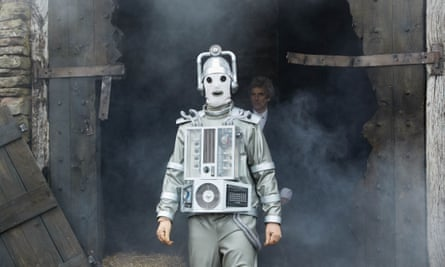 Does the Doctor now face a reluctant regeneration at the hands of the Cybermen's death ray?