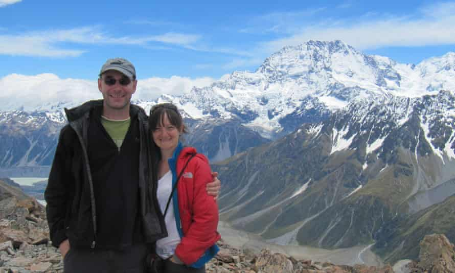 Scott and Kate Wooderson at Fox Glacier, New Zealand, in 2014