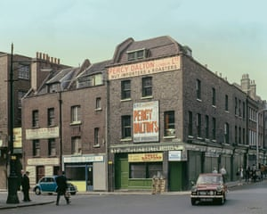 Brushfield Street, 1970. Amazingly these buildings with some of the old signboards survive to this day