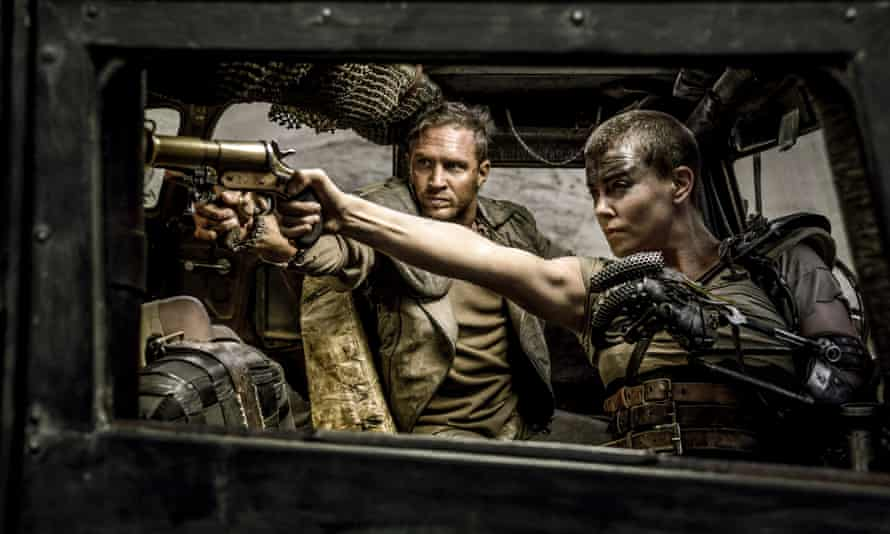 Mad Max without Max ... a still from Fury Road with Tom Hardy as Max and Charlize Theron as Furiosa.