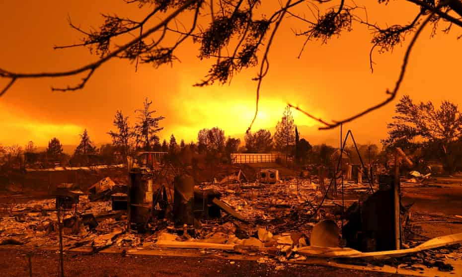 Homes destroyed by the Carr fire in Redding, California.