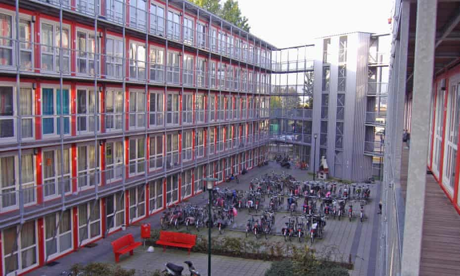 The Wenckehof container village in Amsterdam.