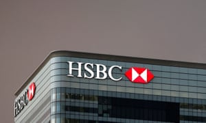 The offices of banking giant HSBC at Canary Wharf on the Isle of Dogs.