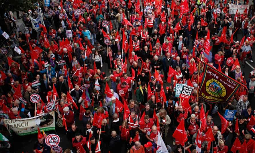 TUC march, Britain Needs a Pay Rise, in central London, October 2014.
