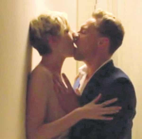 Tom Hiddleston and Elizabeth Debicki in a sex scene from BBC's The Night Manager'