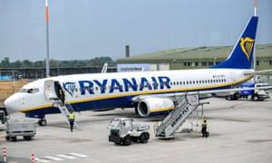 Ryanair aeroplane on the tarmac