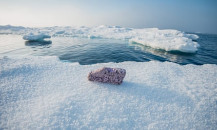 Scientists have discovered plastic pollution lying on remote frozen ice floes in the middle of the Arctic Ocean.