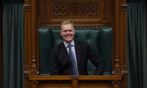 The Speaker of the House of Representatives, Tony Smith, in the Speaker's chair at Old Parliament House in Canberra.