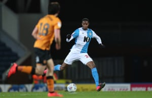 Tosin Adarabioyo in action for Blackburn in February.