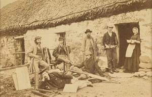Group of artists at Cockburnspath in the Borders, c. 1884