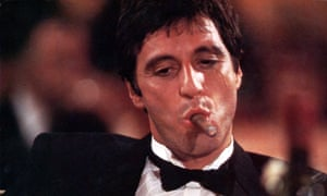 Al Pacino in the 1983 version of Scarface, which is set to be remade.