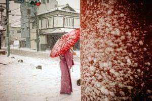 Sorry, You'll Never Walk Alone Heavy Snow Day, Yukinoshita, Kamakura, February 2014