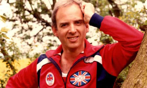 Michael Bland sporting his GB athletics tracksuit in the 1980s