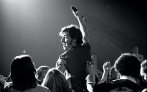 """Bruce Springsteen during The River tour in Toronto on 21 January 1981. Harbron said: """"...if there is a harder working band on the road, I never saw them""""."""