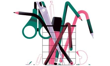 Illustration of pot of pencils