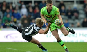 Rob Horne in action for Northampton against Newcastle