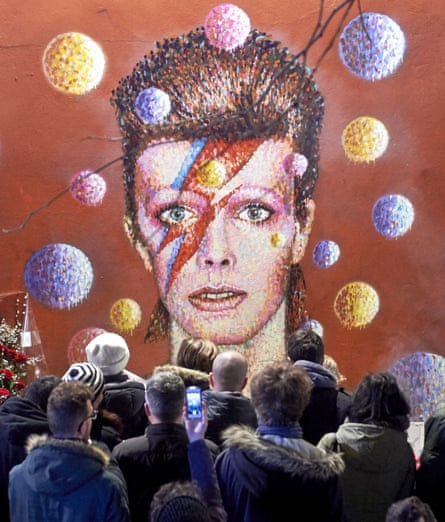 'Yes, I agree, 2016 was a chronicle of fear and misery' ... death of Bowie. Photograph: Niklas Halle'n/Getty Images